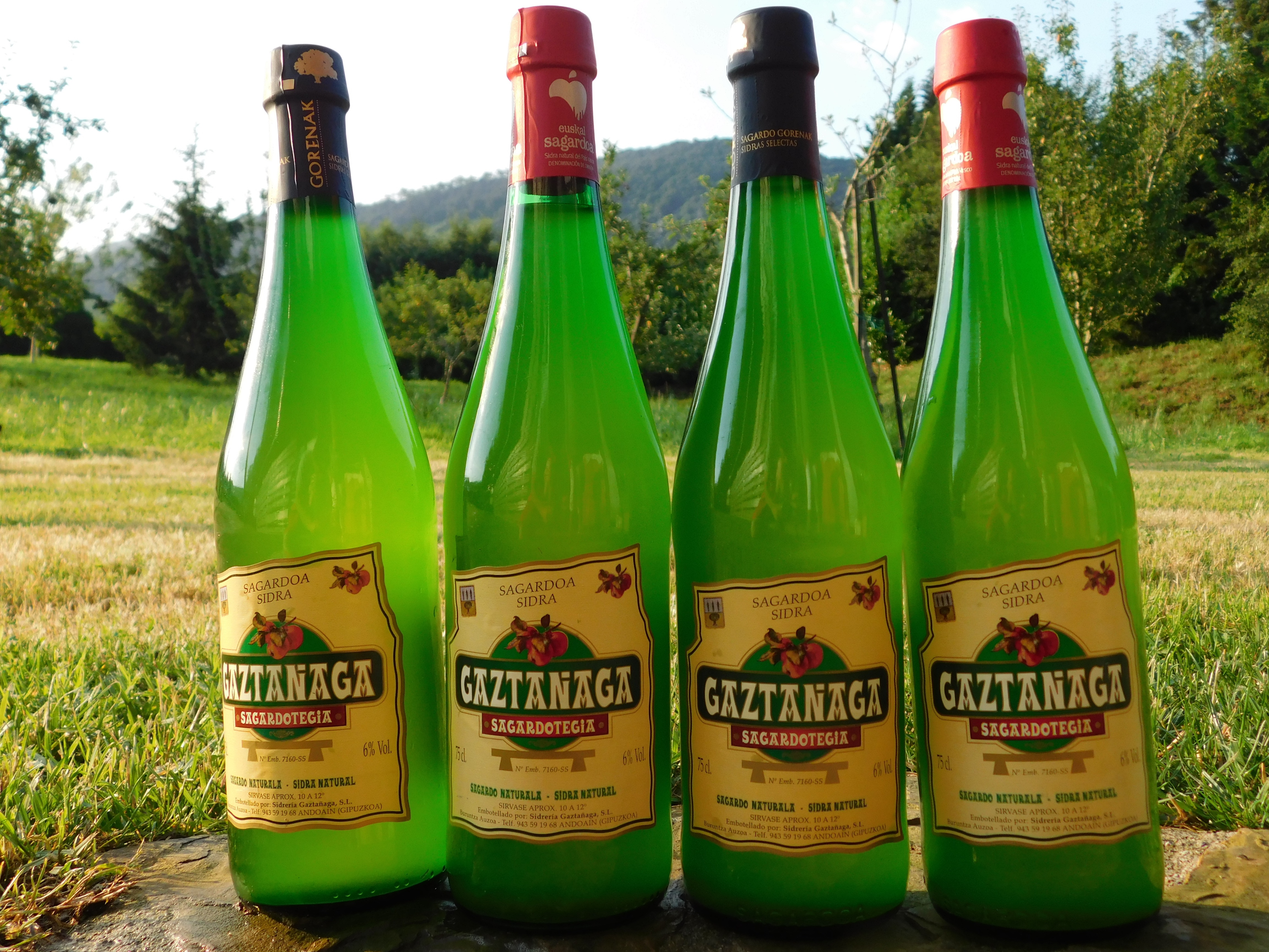 Euskal Sagardoa. %100 bertako sagarrarekin ekoitztutako sagardoa.